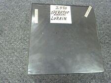 Lorain MC1650 Motocrane Lattice Boom Crane Owner Operator Maintenance Manual