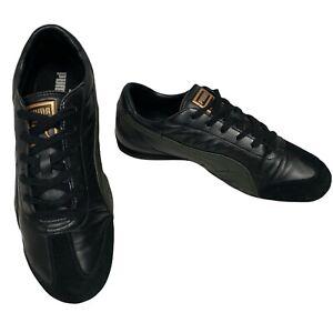 PUMA Iffley II Black Leather Lace Up Sneaker Size 8.5 UK