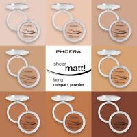PHOERA Sheer Matte Fixing Compact Face Powder Bare Skin Vitamin E Pressed powder