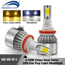 ModernCAR 120W 10800LM H11 H9LED Headlight Kit Low/ High Beam Bulbs Dual Color