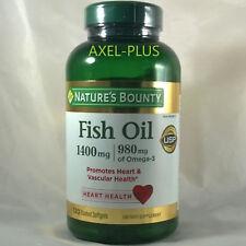 Nature's Bounty  Fish oil 1400mg, 980mg of Omega-3, 130 Softgels