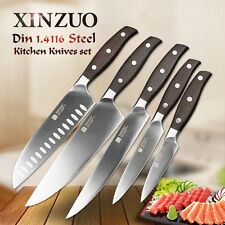 XINZUO High quality 3.5+5+7+8+8inch paring utility cleaver Chef stainless steel