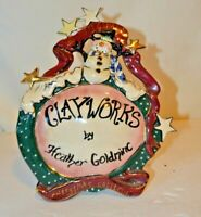 The Christmas Collection Clayworks By Heather Goldminc Retired Shelf Talker 2001