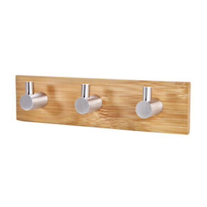 Wooden Key Holder For Wall Hanger Hooks Wall Mount Organizer Hanging Towel Wood