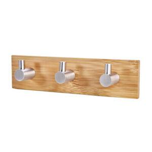 Wooden Key Holder For Wall Hanger Hooks Wall Mount Organizer Hanging Towel Wood