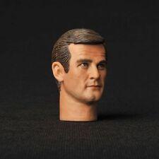 """12"""" Figure HEADPLay Toy 007 James Bond Sir Roger George Moore Man 1/6 Model Head"""