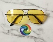 Yellow Lens 70s style retro vintage sunglasses