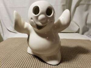 Vintage Rare McCoy Ltd Pottery Halloween Ghost Votive Candle Cover