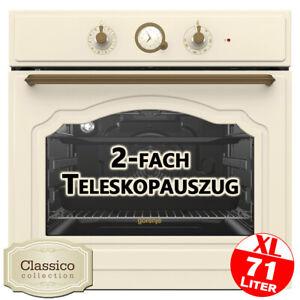 Gorenje Retro Einbau Backofen 60cm Elektro Herd Heissluft Grill Autark Timer Uhr
