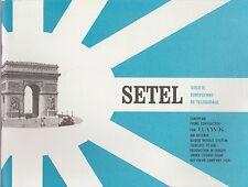 documentation setel ste européenne de téléguidage (illustré, texte en anglais)