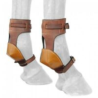 Tough 1 Deluxe Latigo Leather Horse Size Skid Boots horse tack equine 66-5500