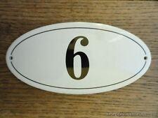 Stile ANTICO SMALTO porta numero 6 Numero Civico Porta Placca Segno