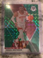 Russell Westbrook 2019-20 Mosaic Green Prizm #134 Houston Rockets