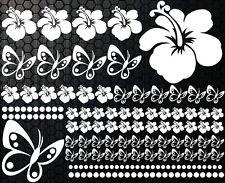 76x lot pièces Autocollants Pour Voiture Hibiscus Fleurs Papillons Hawaï étoiles