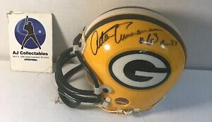 Adam Timmerman autographed mini Green bay packers helmet 3 5/8 NFL