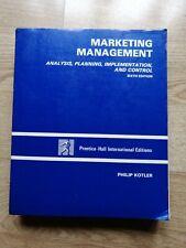 Marketing Management Textbook 6th Edition Philip Kotler University Business Sale