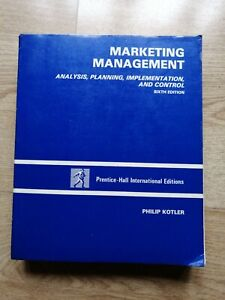 Marketing Management Textbook 6th Edition Philip Kotler University Business Sale