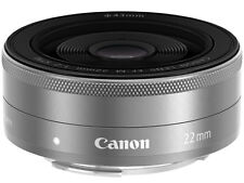 =NEW= Canon EF-M22mm F2 STM Color:Silver (EF-M222STMSL)/ for Eos M Camera Lens