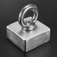Block 50x50x25mm Super Strong N52 Rare Earth Neo Magnet Neodymium with Ring