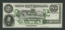 UNITED STATES Bank of New England $2  c.1850s  Uncirculated  Banknotes