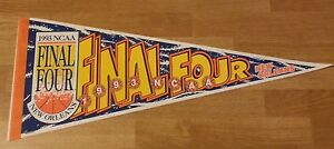1993 NCAA Final Four Basketball Pennant New Orleans Very Rare