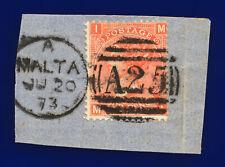 1870 Sg94 4d Vermilion Plate 12 J59 Mi Misperf Malta Ju 20 73 Gu Cat £75 cjnp