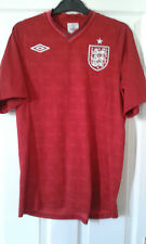 Mens Football Shirt - England National Team - Red - Away 2012-13 - Size 38 RARE