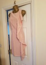 NEXT Blush light Pink tailored frill dress size 14