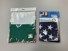 Lot Of 2 Italian American & Italy Collectible Banner Flags! Still Sealed!