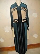 Abaya velours-caftan-Maxi-Taille L Turquoise