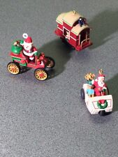 Hallmark Keepsake Miniature Set of 3 Ornaments Here Comes Santa 2003
