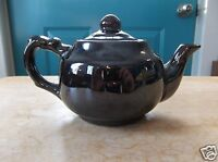 Small Brown Pottery Tea Pot Made in Occupied Japan