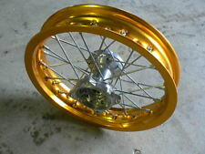 "12"" 15mm axle Front Wheel Gold Alloy Aluminium Motorbike Pit Bike Chinese"