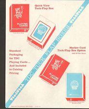 1980 VINTAGE AD SHEET #1004 - TDC ADVERTISING PLAYING CARDS