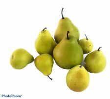 Pottery Barn Faux Pears Lifelike Decorative Fruit 2 Varieties Regular And Mini