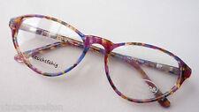 Brille 70er Brillenfassung große Form Federbügel Hornoptik bunt Hippie size M
