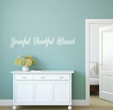 Grateful, Thankful, Blessed, Vinyl, Wall, Decal, Kitchen, Room, Home, Decor Hope