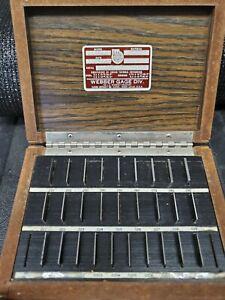 Starrett Webber - 28 Pc. Thin Square Gage Block Set - STEEL - Grade 0 (A1) - SS