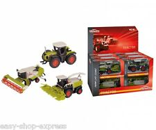 LOT de 12 tracteurs et moissonneuses CLAAS MAJORETTE FERME - FARM CLAAS 15cms