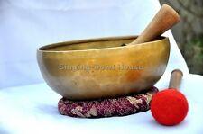 "8""Amazing Solar Plexus Chakra Tibetan Singing bowl-Handmade bowl, By Thamel Mart"