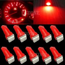10 X Pure Red T5 5050 1SMD Led Bulbs For Dashboard Gauge Light 70 73 74 2721 17