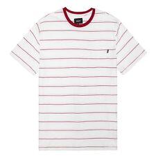 HUF Men's Mini Striped Pocket T-Shirt White/Red & White/Black Skater Fashion Tee