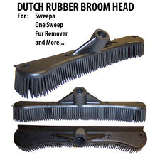 """Dutch Rubber Broom 12"""" Head- 12 Inches Rubber Broom Head Only Fits Any Handle!"""