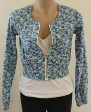 Casual Floral 100% Cotton Coats & Jackets for Women