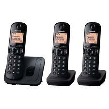 Panasonic KX-TGC213EB Black Trio Digital DECT Cordless Phone with Call Block New