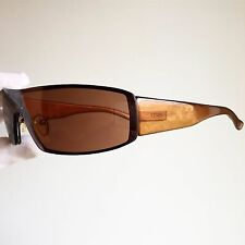 occhiali da sole FENDI SL7457 sunglasses vintage rare wrap oval mask orange trap