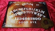 Wooden Ouija Board Bizarre Spirit Eyes & Planchette Instructions Ghost ESP Weeja