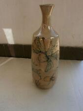 vase vallauris décor fleurs poisson