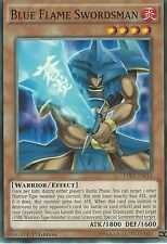 3 X YU-GI-OH CARD: BLUE FLAME SWORDSMAN - LDK2-ENJ14 1ST EDITION
