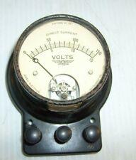 Vintage Jewell Dc Volts Tester Meter Pattern No 57 Self Enclosed Voltage Meter